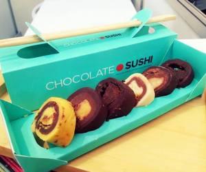 chocolate and sushi image