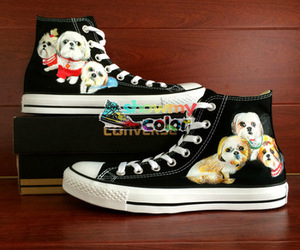 custom shoes, shoes black, and converse shoes image