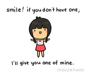 smile, chibird, and cute image