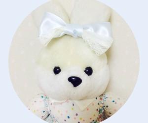 kawaii bunny pastel bow image