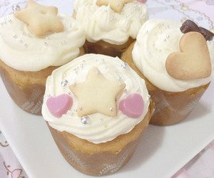 cupcake, kawaii, and yummy image