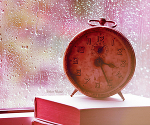 clock, rain, and time image