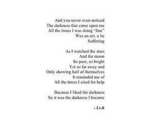 Darkness, he, and poems image