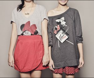 girl, fashion, and minnie mouse image