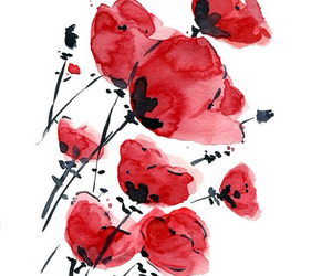 flowers, red, and art image