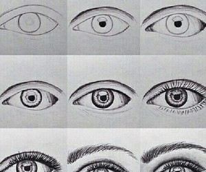 drawing, eyes, and eye image