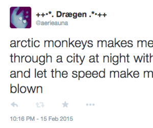 arctic monkeys, twitter, and deep thoughts image