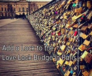 paris, love, and lock image