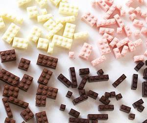 chocolate, lego, and food image