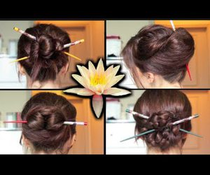 braids, hairstyles, and buns image