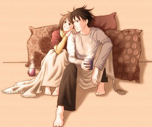 anime, couple, and duo image