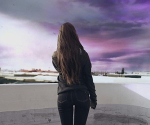 ariana grande, one last time, and sky image