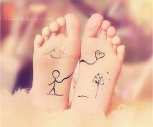 love and feet image