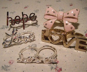 love, rings, and hope image