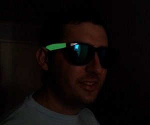 glasses, glowing, and PLUR image