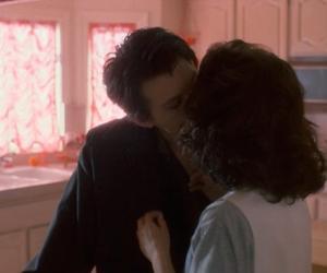 Heathers, couple, and kiss image