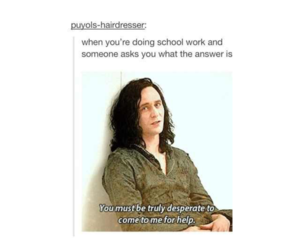 funny, loki, and school image