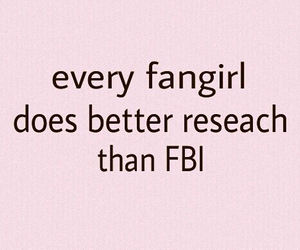 fangirl, fbi, and funny image