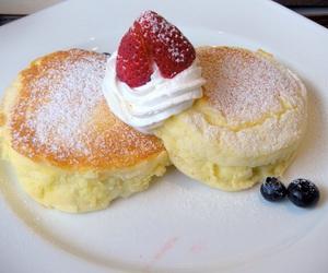 cream, food, and pancakes image