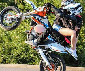 couple, motocross, and boy image