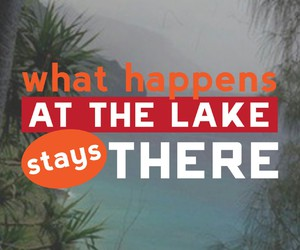 lake, palm tree, and quote image