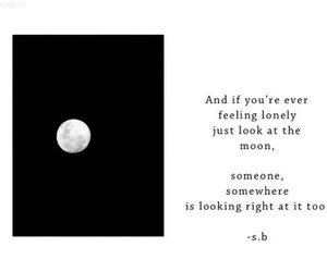 moon, lonely, and quotes image
