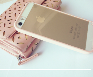 apple, baby pink, and case image