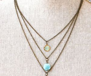 blue and necklace image
