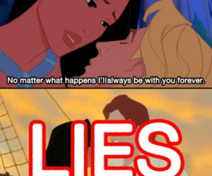 lies, pocahontas, and disney image