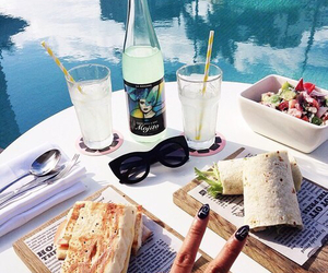 food, summer, and pool image