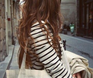 girl, hair, and stripes image