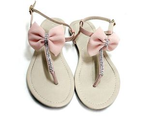 bow, sandals, and pink image