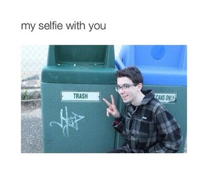 funny, selfie, and trash image