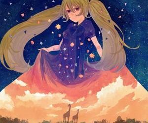 anime, sky, and manga image