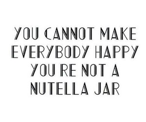 nutella, quote, and happy image