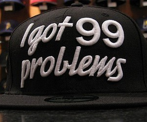 problems, hat, and cap image