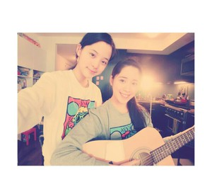 guitar, sister, and lovely image