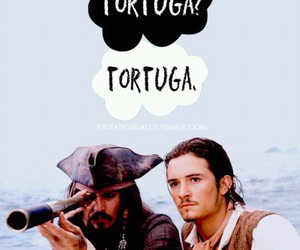 orlando bloom, johnny depp, and pirates of the caribbean image