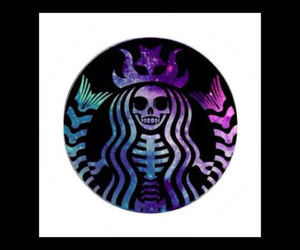 coffee, galaxy, and starbucks image