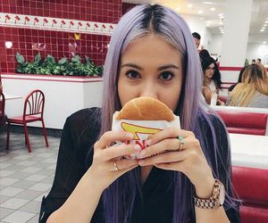 hairstyle, hamburgers, and watch image