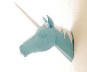 unicorn, blue, and Paper image