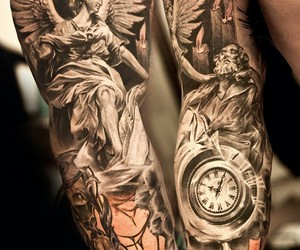 tattoo, angel, and art image