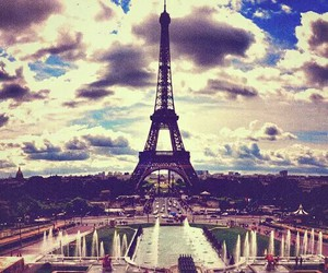 paris, clouds, and france image
