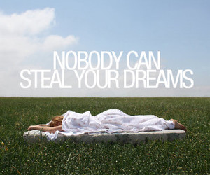 Dream, steal, and text image