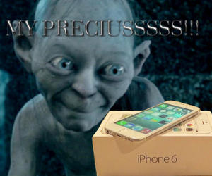 apple, iphone, and lord of the rings image