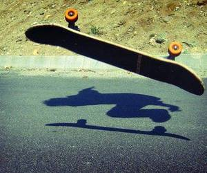 skate, shadow, and skateboard image