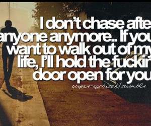 quote, life, and chase image