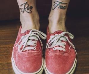 tattoo, vans, and run image