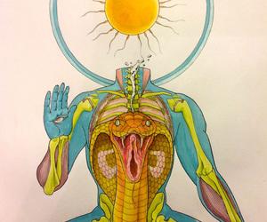 acid, high, and illustration image