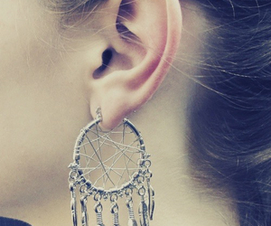 earrings, jewelry, and dreamcatcher image